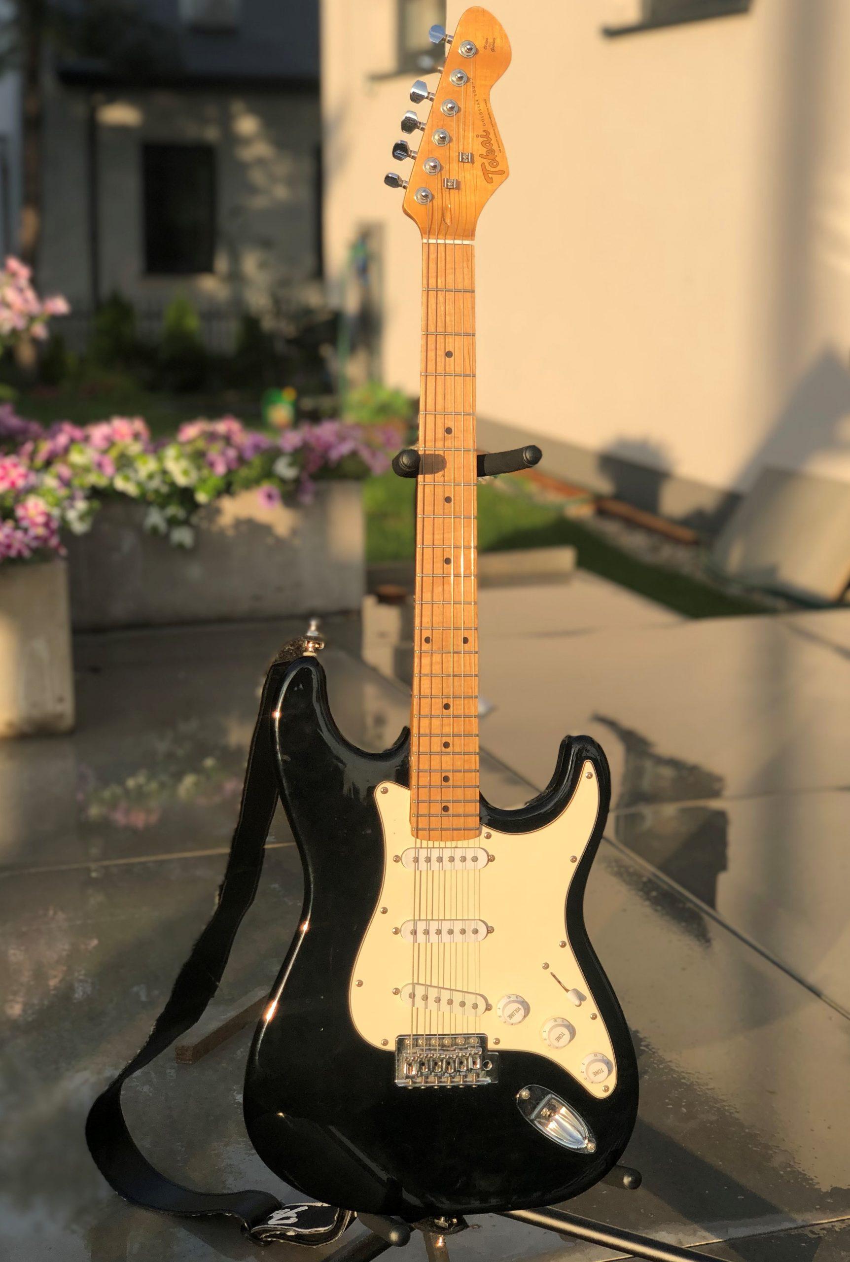 Vintage guitars. The photo contains Partcaster.