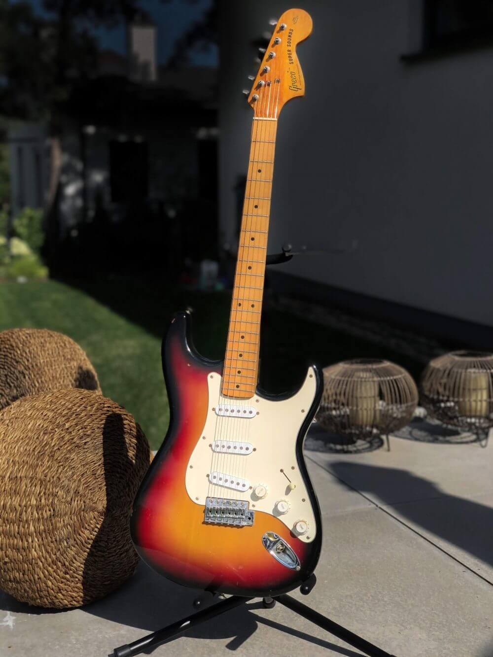 Greco Super Sound Stratocaster SE500 Triple Sunburst